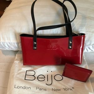 Beijo Candy Apple Red Purse *FREE* wallet